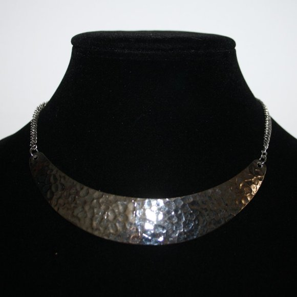 """Beautiful hammered necklace 16"""""""